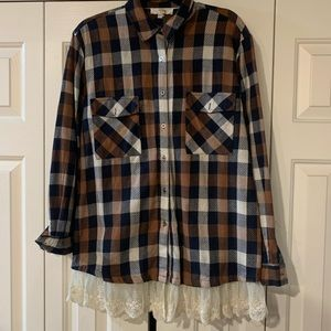 Feminine Lace Flannel